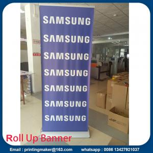 China Luxury silver Pull up Banners Roller up Banners on sale