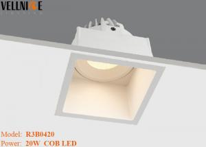 Quality 20W Square Shape High CRI LED Downlight , Led Recessed Grille Grid Light for sale