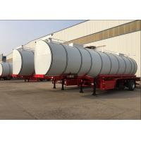 China 34CBM 3 Axle Hot Bitumen Tank Trailer Carbon Steel Tank Material High Loading on sale