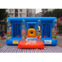 Durable Blue Kids Inflatable Jumper Flame Retardant For Indoor Use