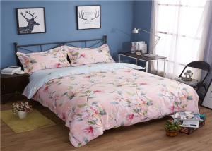 China 330TC 60S Flower Pattern And Washed Cotton Bedding Sets Quilt / Pillowcase / Duvet Cover on sale
