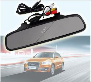 China Free from blind spot wireless reverse camera with 4.3 inch rear view mirror display 2.4G on sale