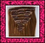 100%の毛の延長およびかつらのインドの人間の毛髪の織り方クリップ