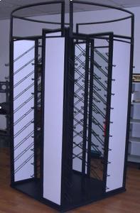 China Black Flooring Display Racks , Metal Retail Shop Display Racks on sale