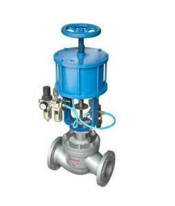China Pneumatic piston cut-off valve WCB Stainless Steel Pneumatic stop /cut off / globe valve on sale