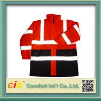 Roadway Winter Reflective Safety Coat for Personal Security Waterproof and Windproof