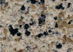 Multicolor Cafe Brown Artificial Quartz Stones Polished Kitchen Table Quartz Stone Slabs