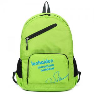 China foldable backpack green colorful school backpack wholesale backpacks on sale