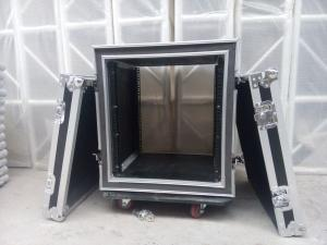 China 12U Power Amplifier Flight Case , Shockproof Rack Case Road Case for Mixer , Sound , Lights on sale