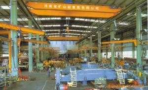 China Double Girder Overhead Crane With Trolley Used In Mechanic Processing Workshop on sale