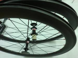 Quality 700C 56mm 27.5mm width Aero Carbon Road Bike Rims , Shimano / Campaglono Hub for sale