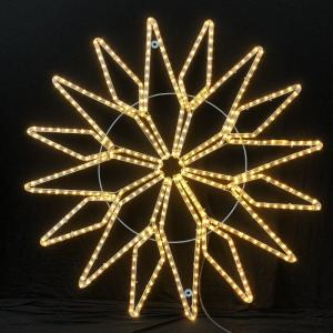 China 110V/220V LED rope light star motif light IP55 for Christmas show wedding use shopping mall commercial decorating lights on sale