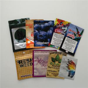 China Gravnre Printing Herbal Incense Packaging CBD Gummies Baggies Sexual Pill Sachet For Herbal Flower on sale