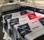 Polyester Fabric Vision Laser Cutting Machine For Flag Display Signage And Banner