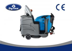 China Dycon Industrial Light Gray Batteryt Dc Floor Scrubber Dryer Machine With A Seat on sale