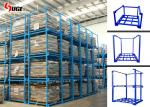 Sturdy Q235 Steel Three - Layer Stackable Stillages / Fabric Cage Storage Rack