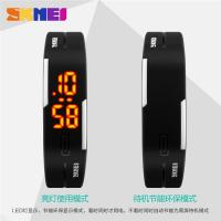 China Thin Digital Small Led Digital Watch Black 3 ATM Waterproof For Boys on sale