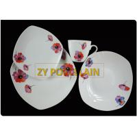 10.5inch  plain white  wedding  ceramic dinner plate, pottery tableware SQUARE plates
