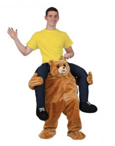 China Holiday / Carnival Animal Mascot Costumes Bear Carrying Man Costume on sale
