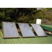 Aluminum Alloy Flat Panel Solar Water Heater , Circulation Pump