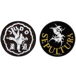 7.6cm Logo Embroidery Patch Farbric Iron On Badges For Shoes Vests