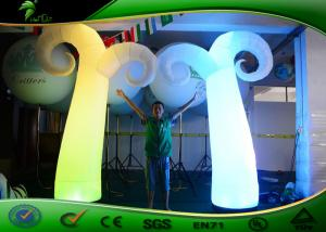 China LED Advertising Inflatable Lighting Decoration / Inflatable Air Tube With Air Blower on sale