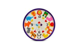 China Magic Moving Wildlife Design Clock Arts And Crafts Toys With 8 DIY Colors 21CM Dia on sale