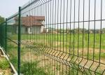 3D Curved Garden Mesh Fencing Square Post With 2.0-6.0mm Wire Gauge