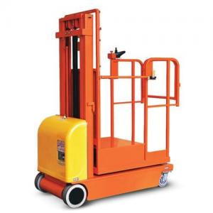 China Safety Brackets Electric Aerial Order Picker Forklift Customized Color on sale