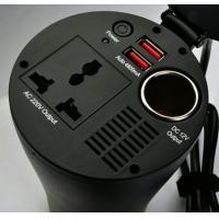 Factory hot selling 150W Car Power Inverter Charger Adapter Red 5V USB 12V DC to 110V 220V AC