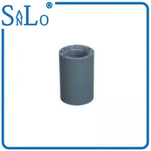 China 2 / 3 Inch Sch 40 PVC Pipe Fittings , Low Power Consumption Gray Pvc Pipe Adapter on sale