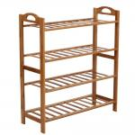 Durable Bamboo Home Furniture 4 Tier Shoe Rack Renewable Resource And Environmental