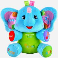 Talking Blue Elephant Cute Baby Plush Toys With Music Animals For Baby Learning