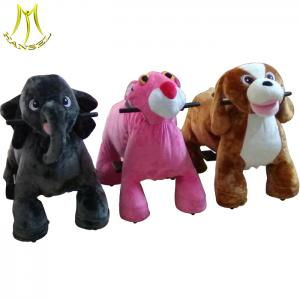 China Hansel battery operated toys children ride on plush animal ride for sale on sale