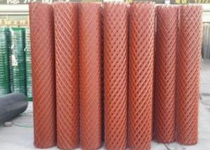 China Big Holes Wire Mesh Rolls , 0.3 - 2mm Steel Expanded Mesh Fencing Rolls on sale