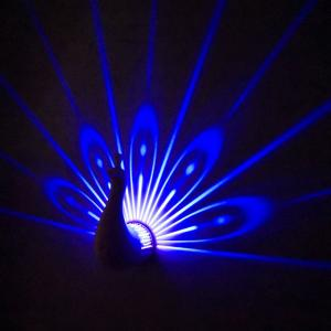 China Novelty gifts product Peacock projection lamp, funny and attractive  peacock projector lamp on sale
