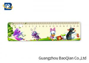 China Kids Stationery Gifts 3D Custom Plastic Rulers , Lenticular Image Printing Beautiful Figure on sale