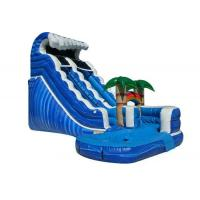 Forest Adventure Inflatable Water Slide And Pool , Bouncy Double Water Slide