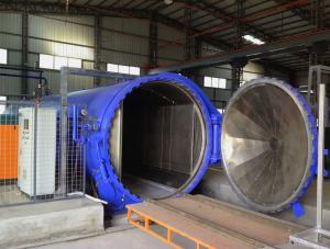 China Composite Autoclave with PLC and unique medium circulation device on sale