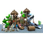 Dinosaur Theme Plastic Outdoor Play Equipment With Stainless Steel Slide