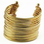 Braceletes unisex do punho do metal da joia da liga da lata da cor do ródio da forma para o presente ou o partido