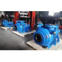 Black Soft Rubber Lined Slurry Pumps with CV Motor on Top Belt Driven Blue Color