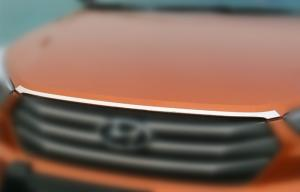 China ABS Chrome Auto Body Trim Parts For Hyundai IX25 2014 Bonnet Trim Strip on sale