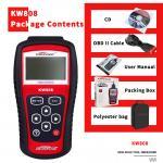 Red Obd2 Professional Diagnostic Tools 16pin Obd Adaptor Male For 12V OBD2 Cars
