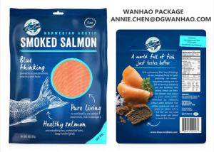 China Custom Printing Laminating NYLON / LLDPE Fish Seafood Vacuum Packaging Bags on sale
