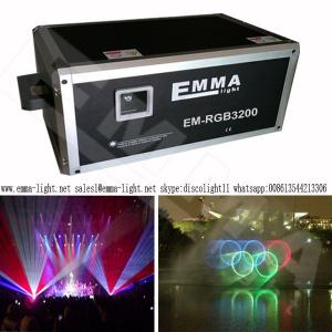 China New 20W RGB Full Color Laser Light , High Power 20W RGB Animation Laser Projector on sale