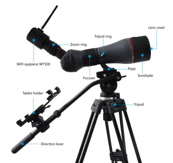 IPhone / Ipad 5 0MP WIFI Telescope With Auto Focus Eyepiece