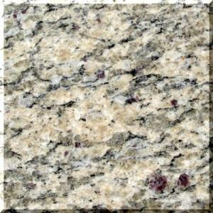 China Santa cecilia dark yellow granite stone tile slabs with Polished , Flamed , Honed Surface on sale