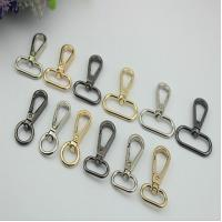 China Custom-made zinc alloy metal gold 13 mm round & 20 mm oval eye bolt snap hooks with hanging plating on sale