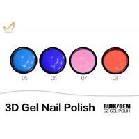 Natural 3D 4D Uv Sculpting Gel Nail Polish , Nail Art Using Gel Polish Bright Color